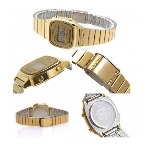 relógio casio feminino retro  la670ga-9df  vintage mini