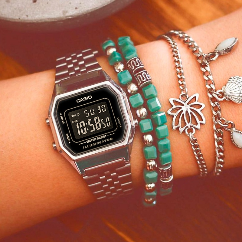 Relógio Casio Feminino Vintage La680wa-1bdf - R  149,00 em Mercado Livre 1de001bdef