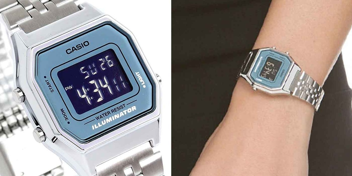 Relógio Casio Feminino Vintage La680wa-2bdf - R  199,00 em Mercado Livre e0d3b837a6
