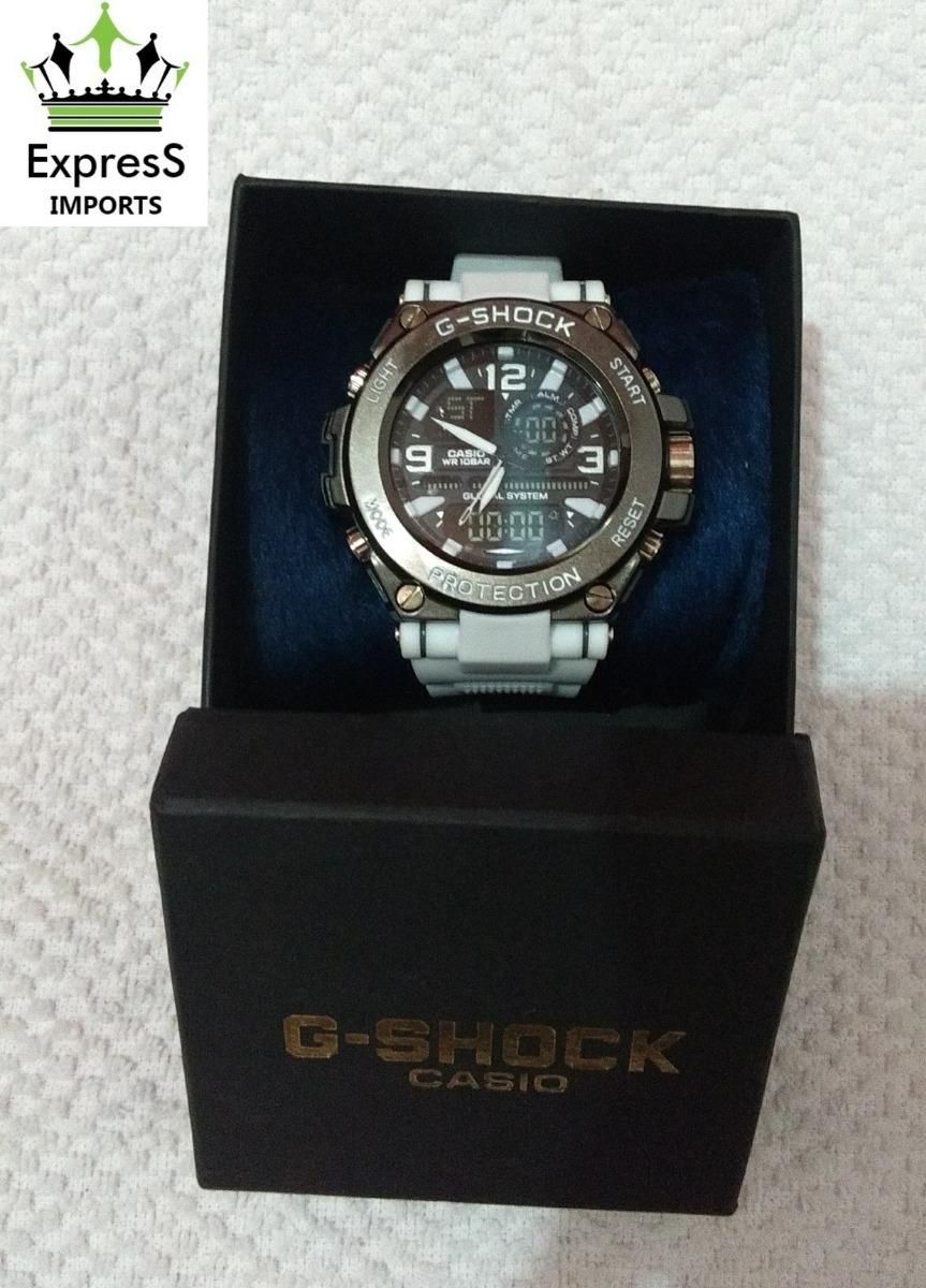 55e796f997f relógio casio g-shock aço branco analógico e digital+caixa! Carregando zoom.