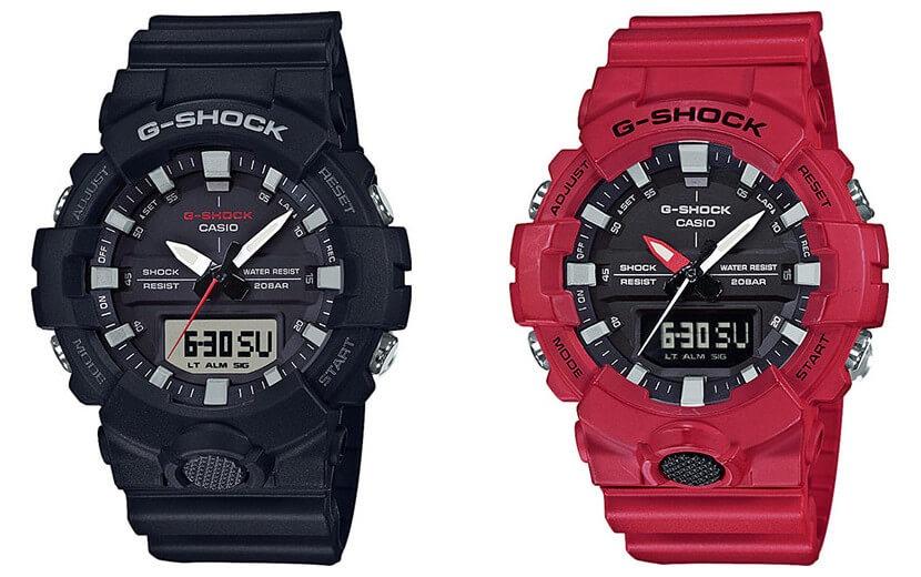dab5e962d61 relógio casio g-shock anadigi ga-800-4adr vermelho. Carregando zoom.