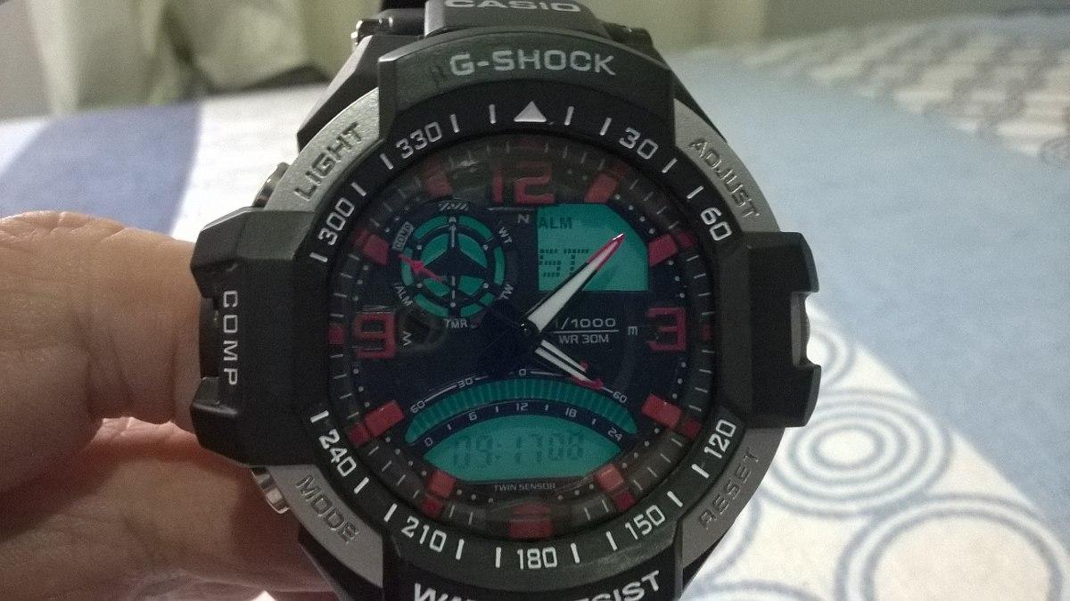 62d53a28c3a relógio casio g shock aviator. Carregando zoom.