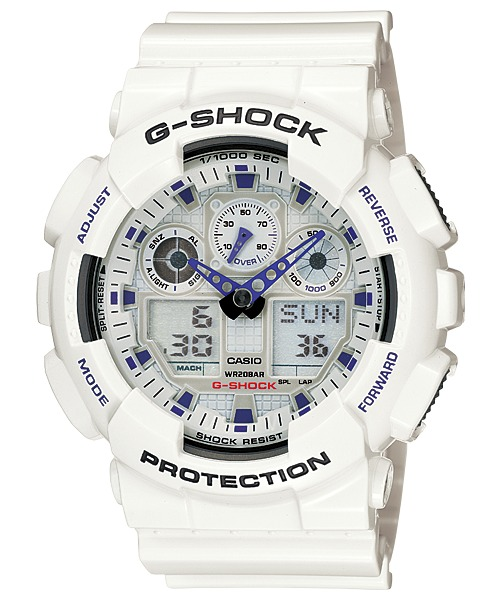 534bb7c1941 Relógio Casio G-shock Branco Ga-100a-7adr Original C  Nota - R ...