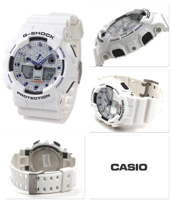 b8ab1a99ba2 Relógio Casio G-shock Branco Ga-100a-7adr Original C  Nota - R  439 ...