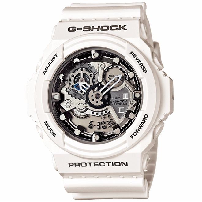 1fe4f0c99fa Relógio Casio G Shock Branco Ga-300-7a - R  889