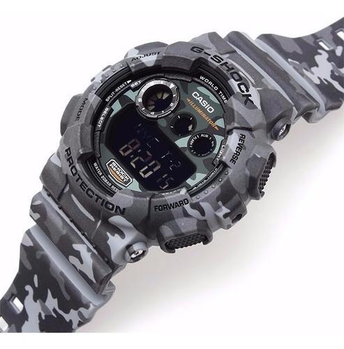relógio casio g shock camuflado gd 120cm 8dr original + nfe