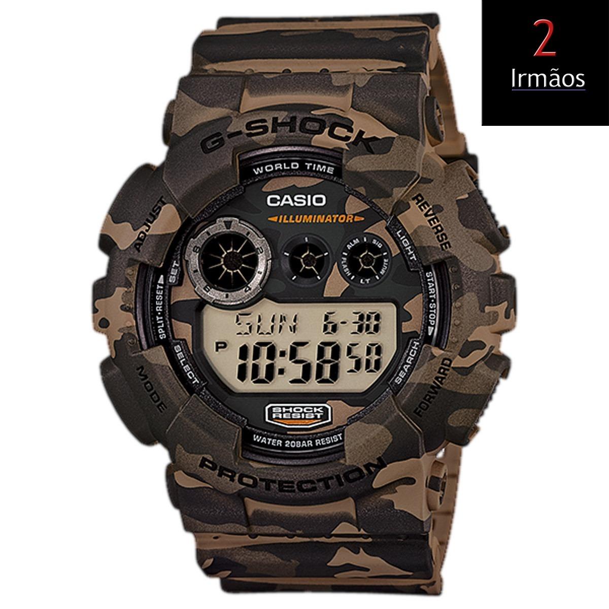 10486759b71 relógio casio g-shock camuflado masculino gd-120cm-5dr. Carregando zoom.