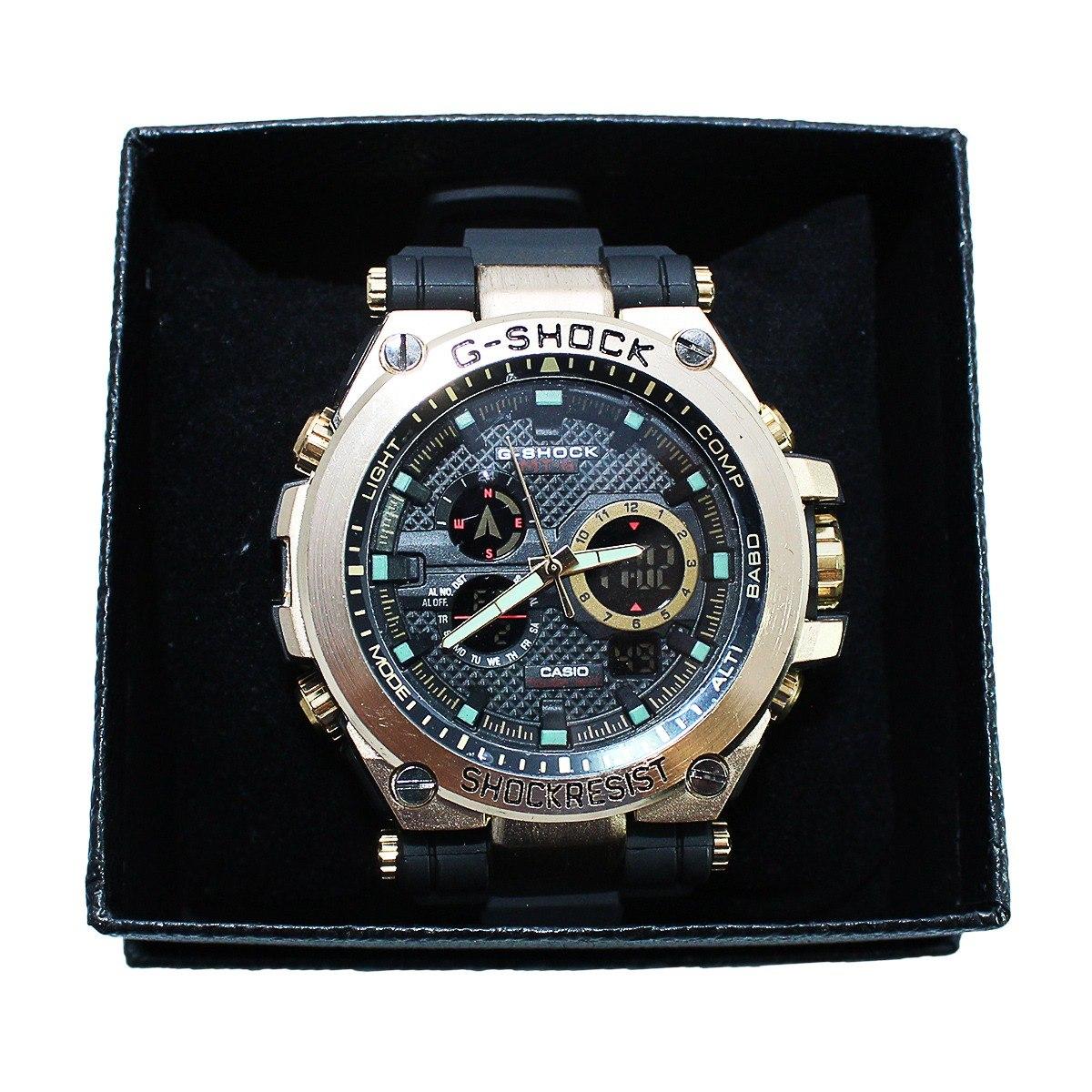 697fbfec08f relógio casio g shock dourado digital analógico promoção. Carregando zoom.