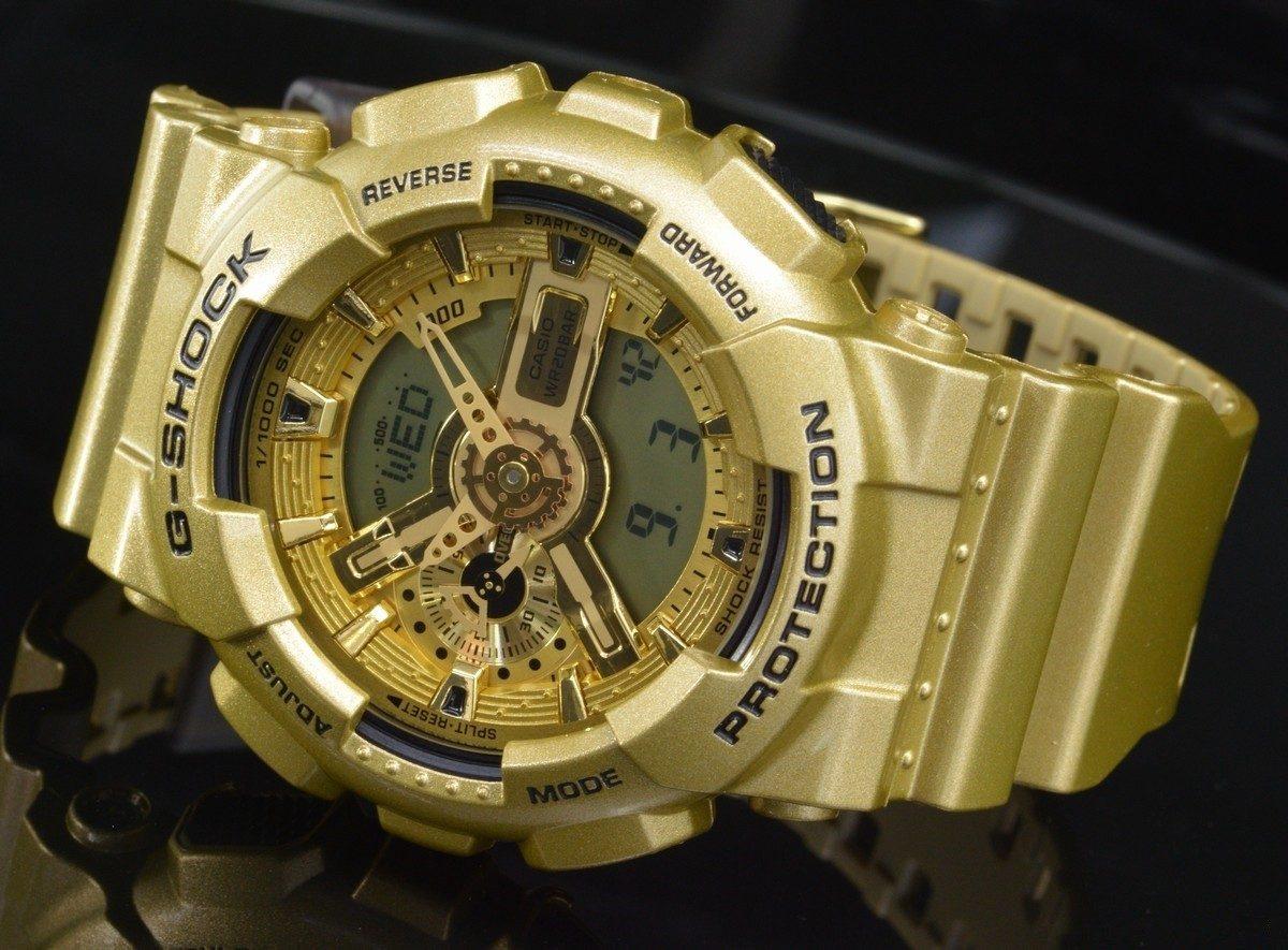 f5711effd01 relógio casio g-shock dourado ga110gd 9a. Carregando zoom.