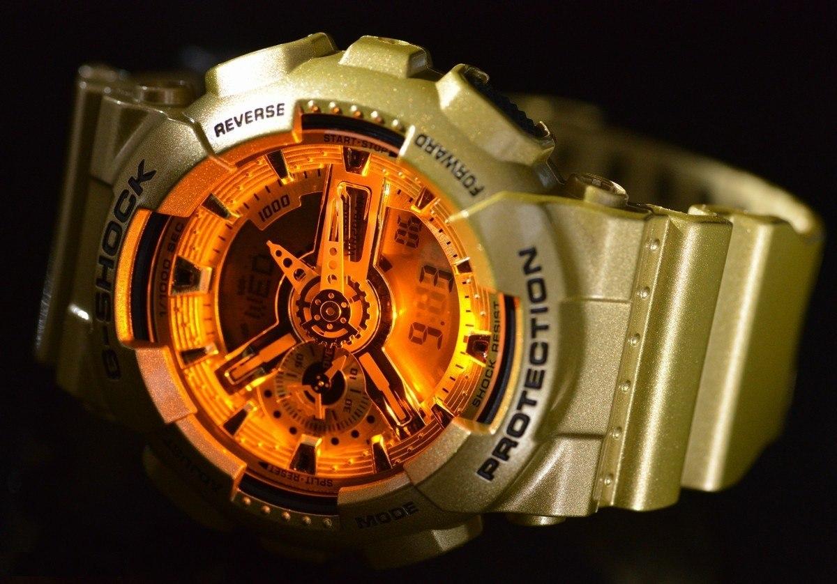 82dbc08214b relógio casio g-shock dourado ga110gd 9a. Carregando zoom.