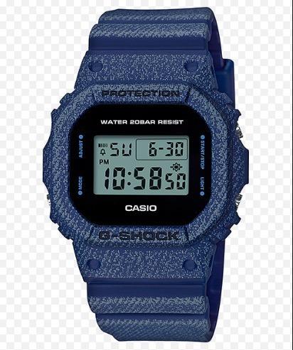 056f96746e9 Relógio Casio G-shock Dw-5600de-2 Cor Denim Jeans Dw-5600e-1 - R ...