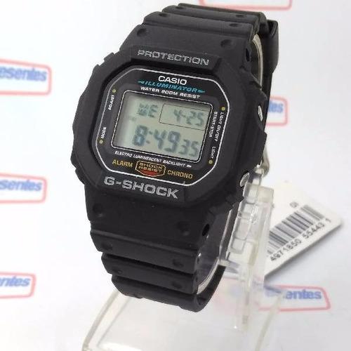 relógio casio g-shock dw-5600e série prata 100%original