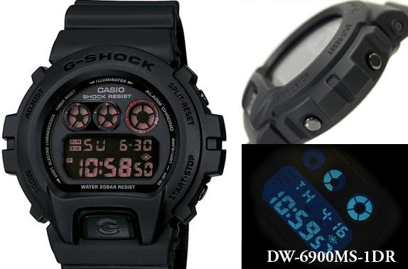 2e3f6147789 Relógio Casio G Shock Dw-6900ms-1dr Preto Padrão Dw6900 - R  384