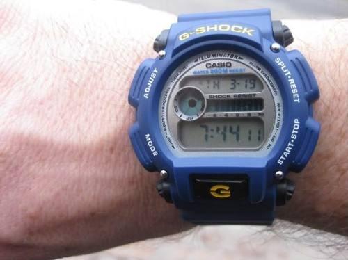 4c91f5cd9d9 Relogio Casio G-shock Dw-9052 Azul Wr 200 Cronometro Nfe - R  348