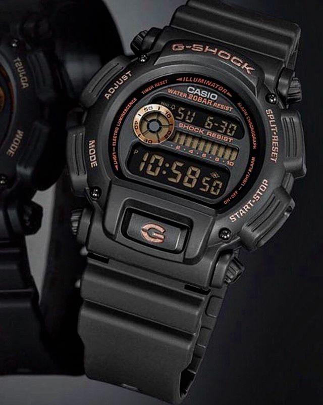 6853d5d53fe relógio casio g shock dw-9052gbx-1a4dr preto rose original. Carregando zoom.