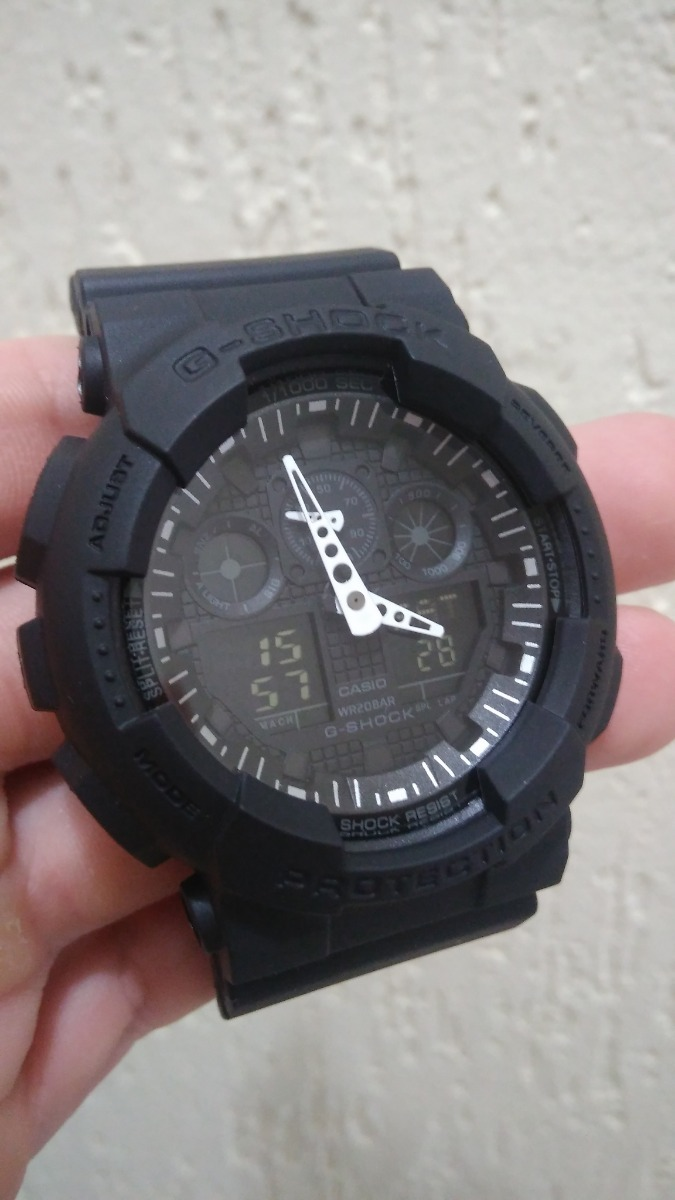 3239e5726e2 ... Casio G Shock Ga 100 1a1dr The GMC Car Relogio ...