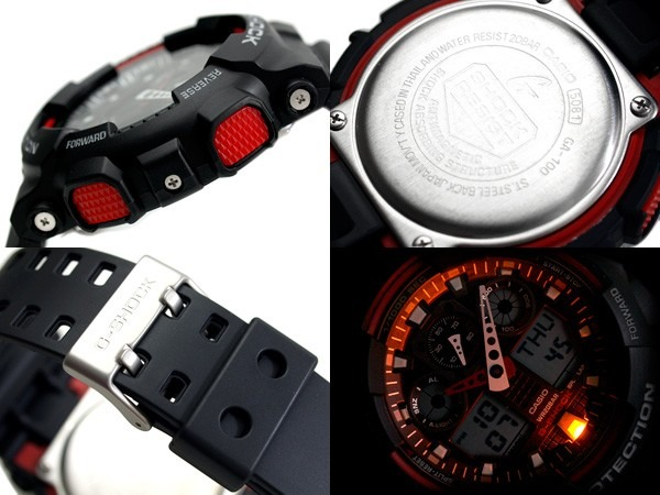 bc83380f3d1 Relogio Casio G-shock Ga-100-1a4 Wr-200 5 Alarmes Hora - R  459