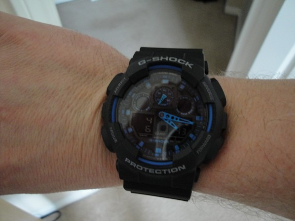 37886a4c72b relógio casio g-shock ga-100 azul preto - leia descrição