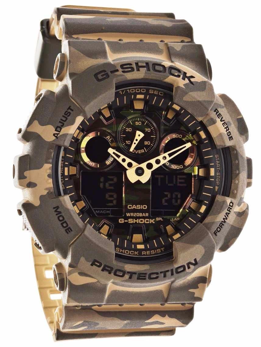 309cdd7fc81 relógio casio g-shock ga-100 cm-5a camuflado 5 alarmes 200m. Carregando  zoom.