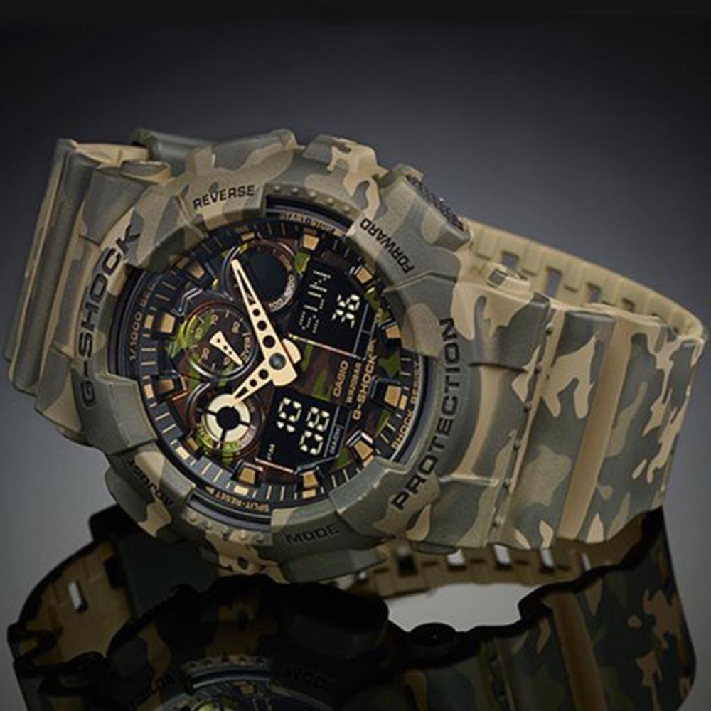 5ac1b172878 relógio casio g-shock ga-100-cr 200m original camuflado. Carregando zoom.