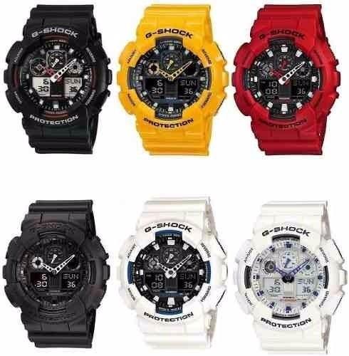 8f5f072ce4e Relógio Casio G-shock Ga-100 Ga100 1a1 1a2 1a4 Ga100 B7 Pret - R ...
