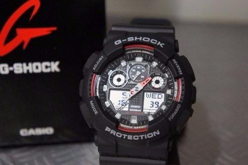 relógio cásio g-shock ga-100 preto tático novo original