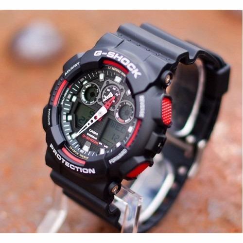 dd5cd3f8b83 Relógio Cásio G-shock Ga-100 Preto Tático Novo Original - R  389