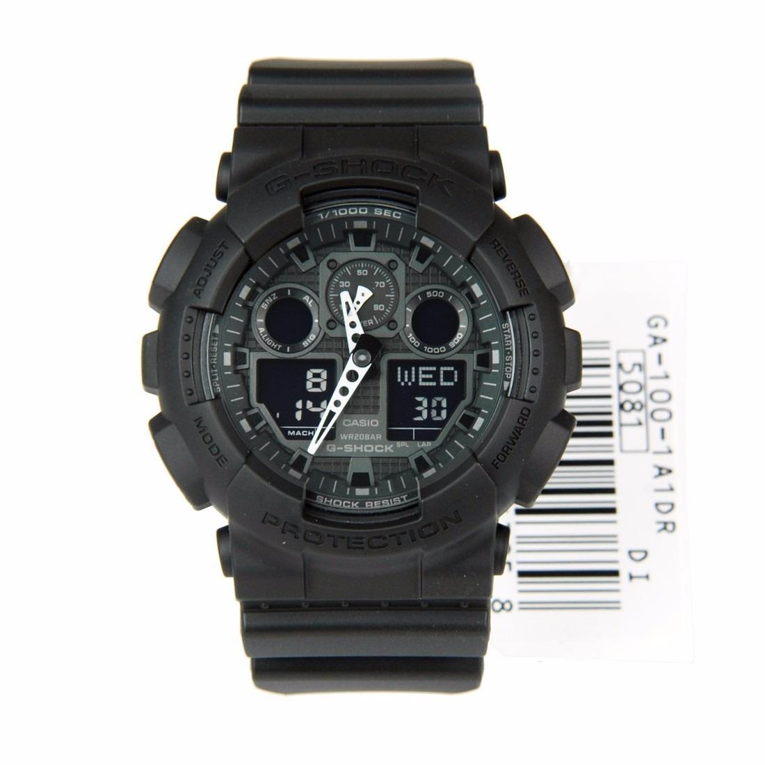53d8b901128 relógio casio g-shock ga 100 wr200 h.mundial 5 alarmes pt. Carregando zoom.