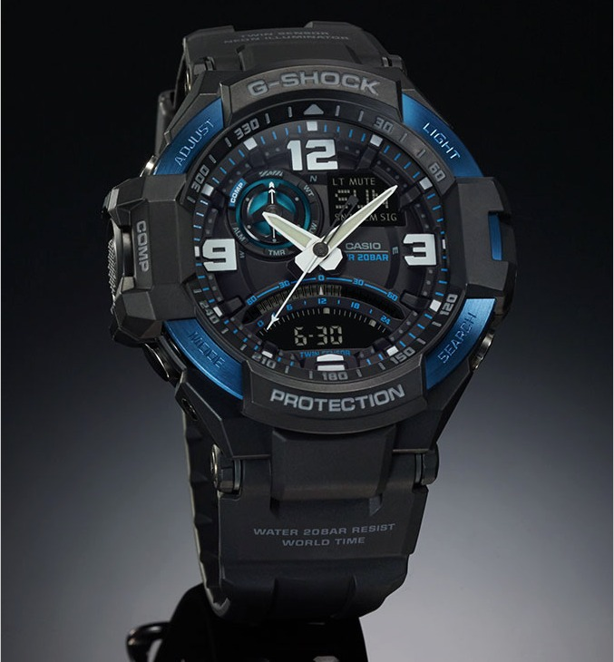 5bab8f87c35 Relogio Casio G-shock Ga-1000-2b Azul Ga100 Gravitymaster - R  978 ...