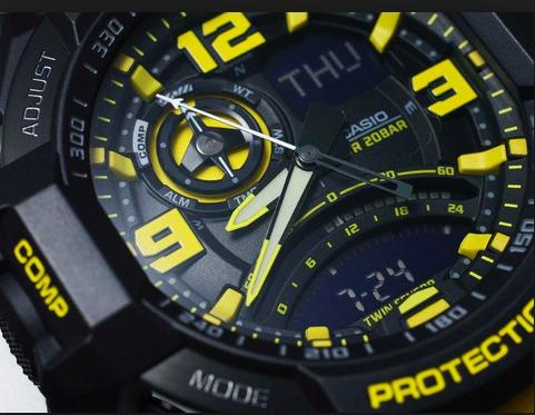 ed74c7967a0 Relogio Casio G-shock Ga-1000-9b Amarelo Ga100 Gravitymaster - R ...