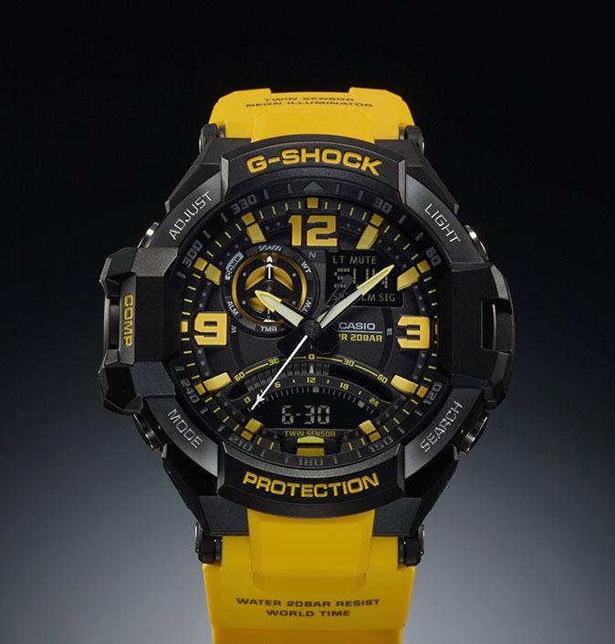 f320e23c6de Relogio Casio G-shock Ga-1000-9b Amarelo Gravitymaster - R  998