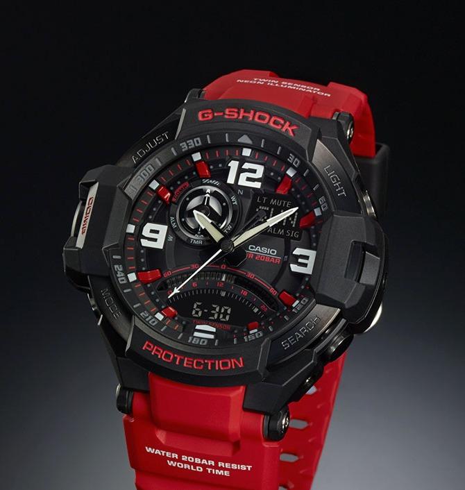 bc3bb72b659 Relogio Casio G-shock Ga-1000-9b Vermelho Em 12 X Sem Juros - R ...