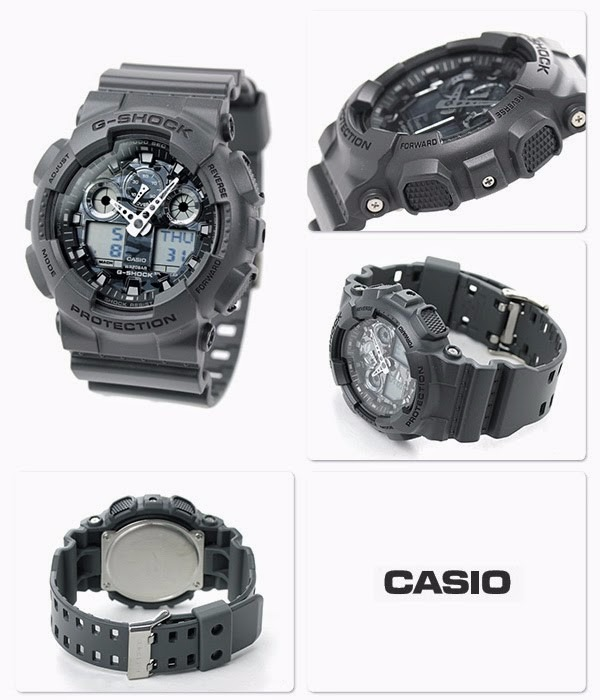 Relogio Casio G-shock Ga-100cf-8a Militar Cinza Camufl Ga100 - R ... f9ce80797408