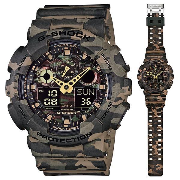 fa59ec0c897 Relógio Casio G-shock Ga-100cm-5adr H.mundial Camuflado - R  599
