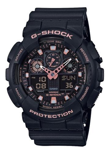 relogio casio g-shock ga-100gbx-1a4dr preto rosê original