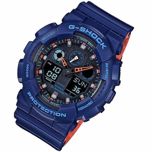 c77ce0c5de5 Relogio Casio G-shock Ga-100l-2a Special Colors Azul - R  499