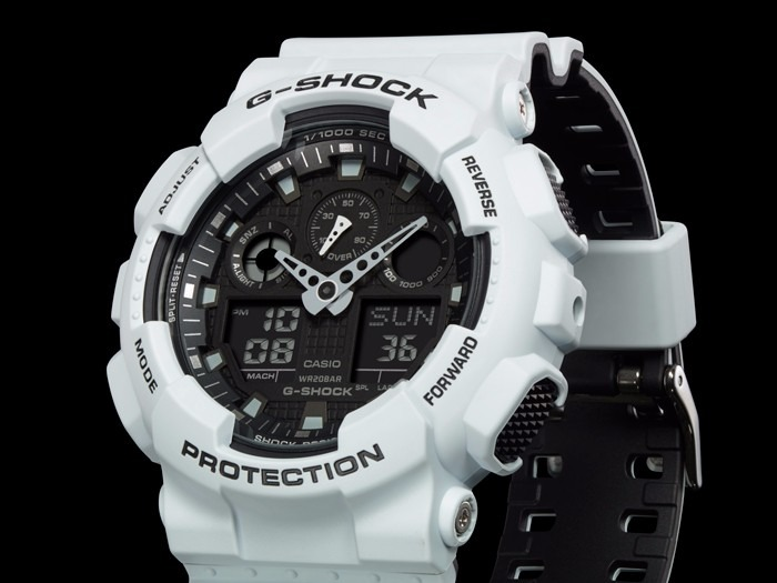 7467193857f Relogio Casio G-shock Ga-100l-7a Branco Original Ga100 - R  528