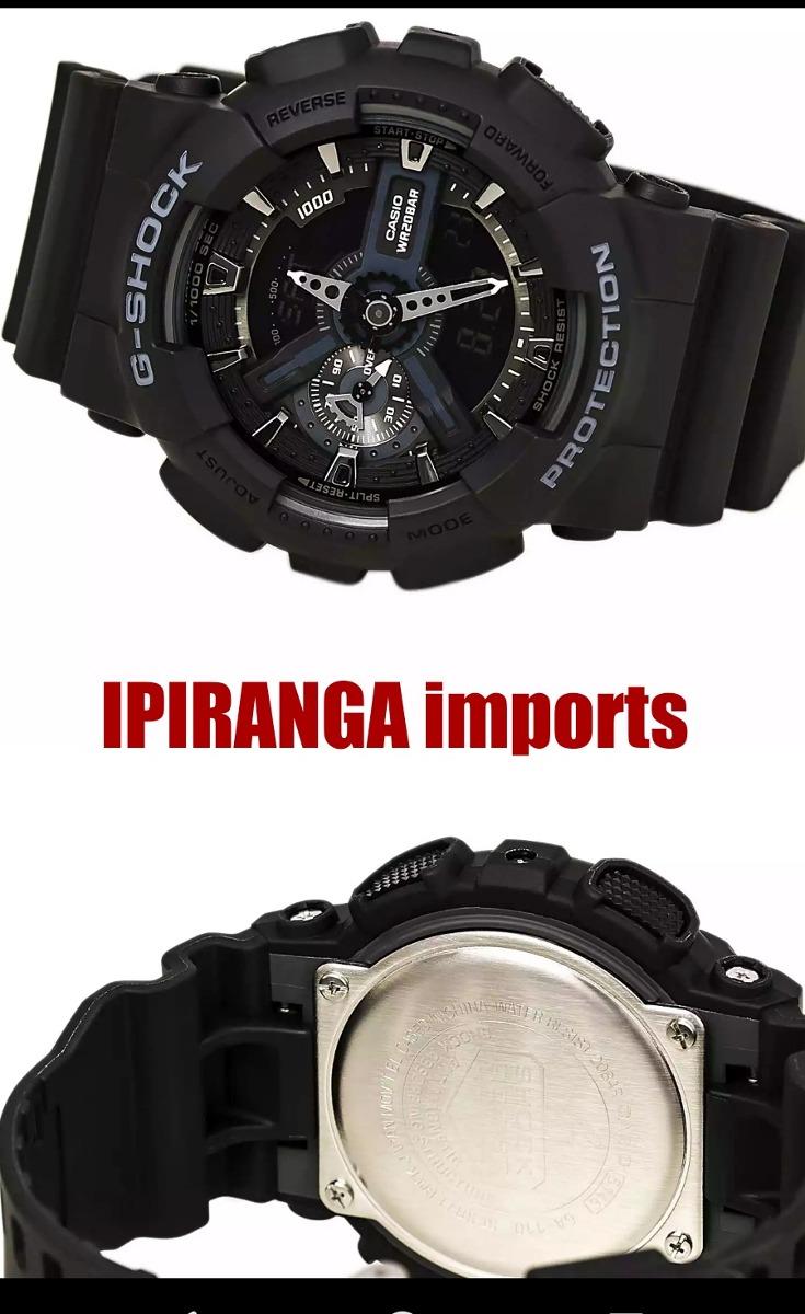 7b44703bc9e relógio casio g-shock ga 110 1b - 100% original. Carregando zoom.