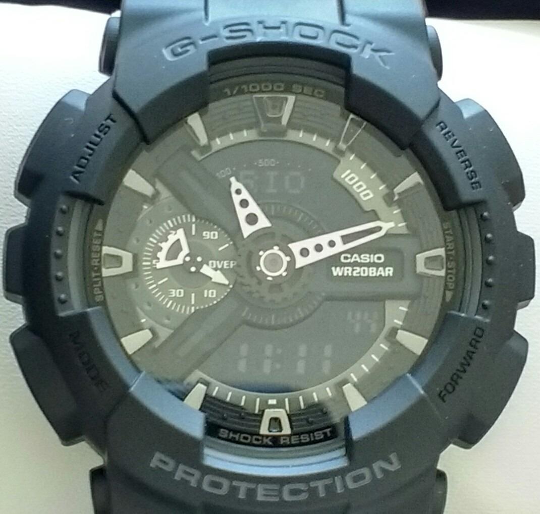 b306bc2c699 relógio casio g-shock ga-110-1b - made in japan. Carregando
