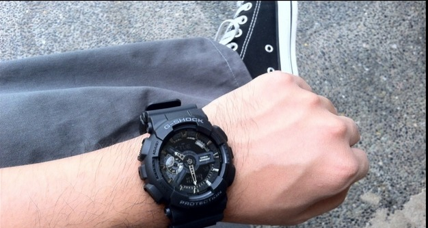 39a709fdb89 relógio casio g-shock ga-110-1b wr200 h.mundial 5 alarmes