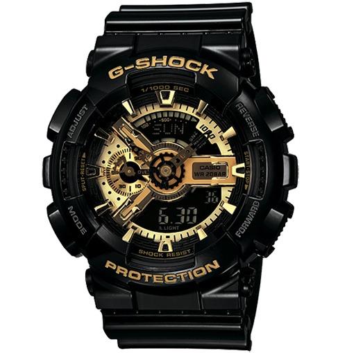 0709450f6c4 Relogio Casio G-shock Ga-110 Preto Dourado - R  719