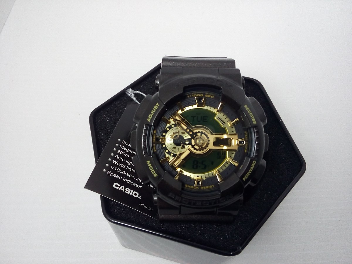 f9ea0939378 Relogio Casio G Shock Ga-110br-5adr - 5 Alarmes Hora Mundial - R ...