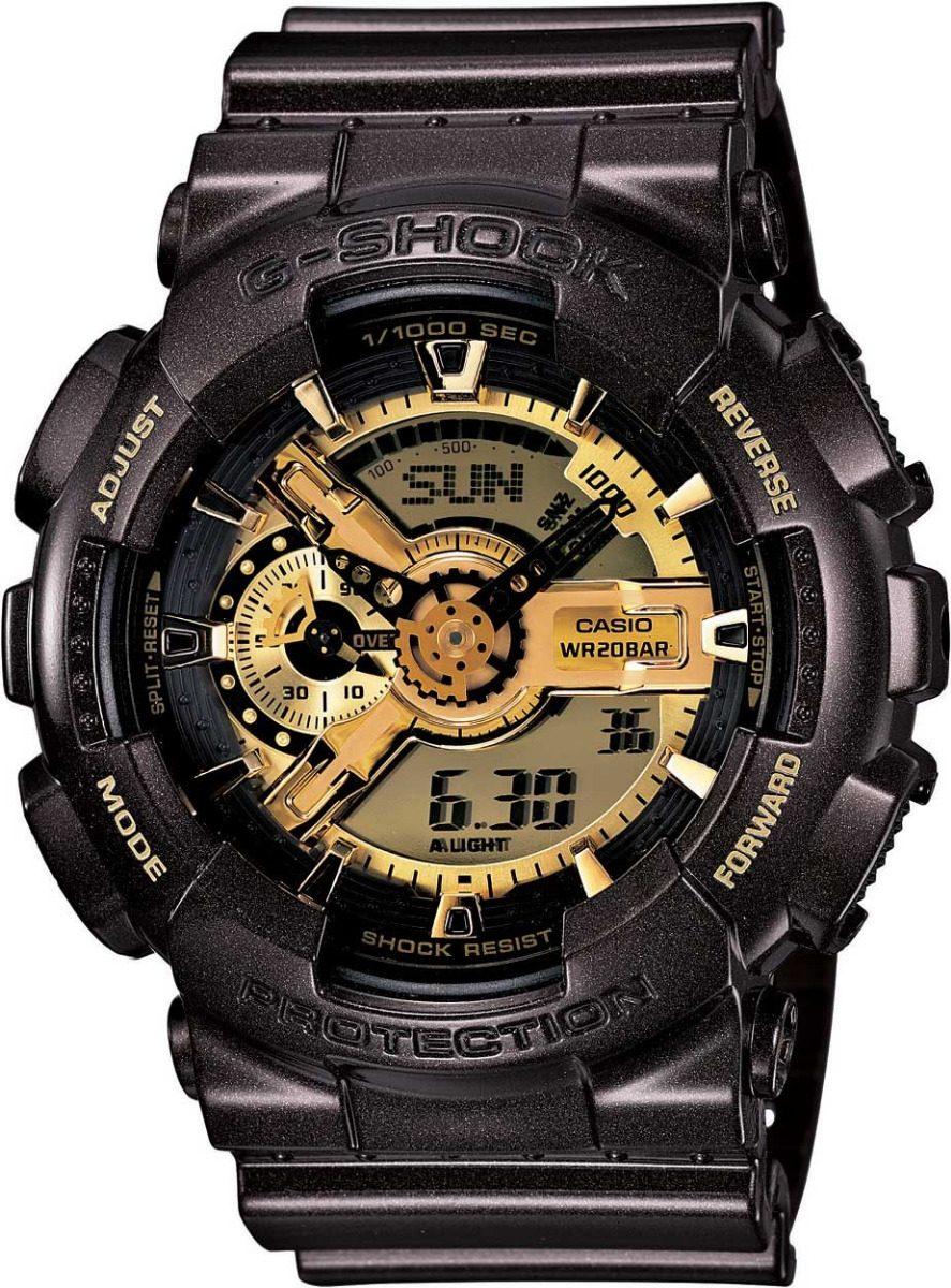 9ece6bfe078 Relógio Casio G-shock Ga-110br Preto E Dourado Original - R  467