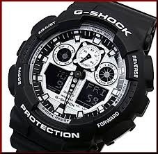 65ba938b87f Relógio Casio G-shock Ga-110bw-1a Mens Watch Black   White