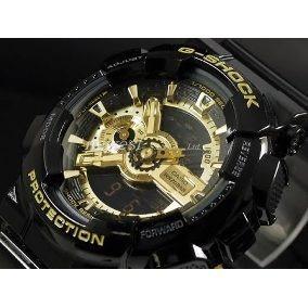 bdcff095c49 Relogio Casio G Shock Ga 110gb-1adr Preto dourado-promoção - R  597 ...