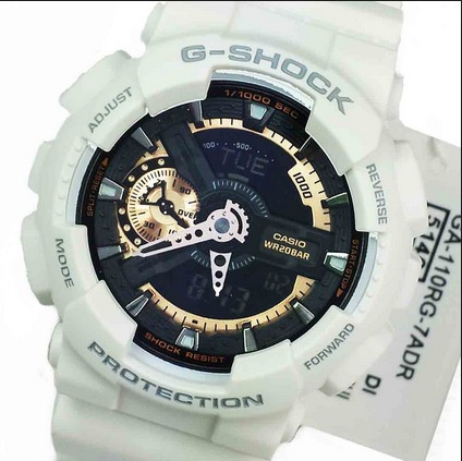 67685031f87 Relógio Casio G-shock Ga-110rg-7a Branco Ga110 Original S.p - R  548 ...