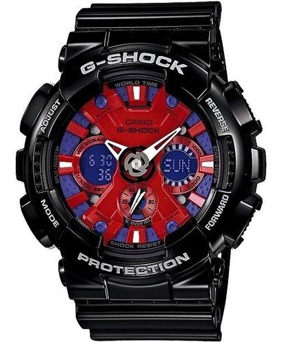 relógio casio g-shock ga-120 wr-200 5 alarmes hora mundial v