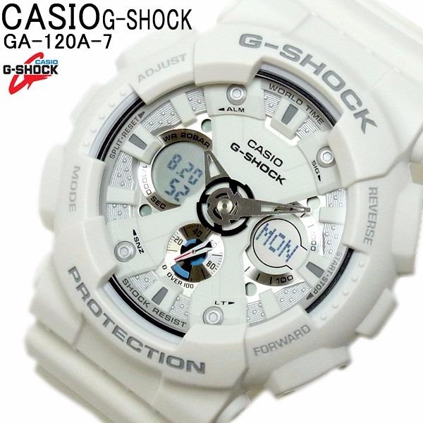7fbd93847d9 Relogio Casio G-shock Ga 120a-7 Branco 100% Original - R  649