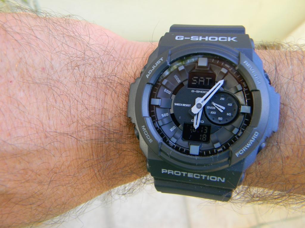 9b848d69a3b relogio casio g-shock ga 150 1 wr-200 5 alarmes hora mundial. Carregando  zoom.