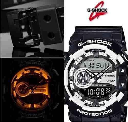 d0ac5939d48 Relógio Casio G-shock Ga-400-1a H.mundial 5 Alarmes 200m Nfe - R ...